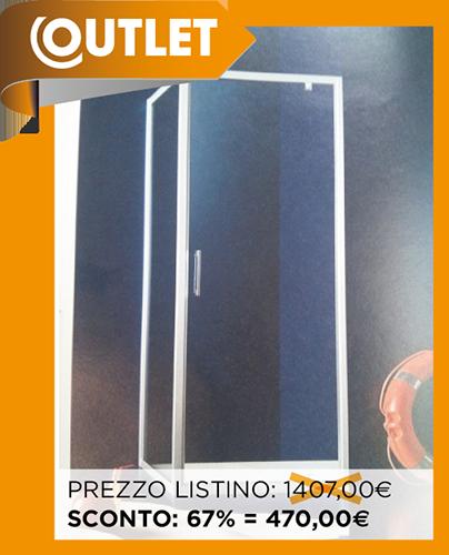 Inda Bagno Box Doccia.Outlet Box Doccia Inda Praia 1000 Porta Battente E Lato Fisso