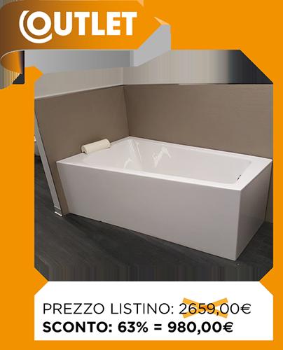 Outlet vasche da bagno duravit vasca paiova ang sx 170x100 - Vasca da bagno duravit ...